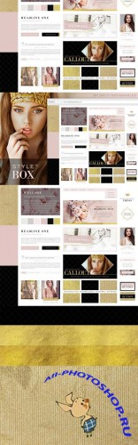 StyleBox Blog Graphics Website Kit 1