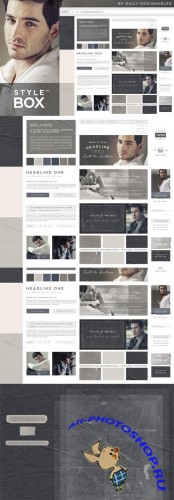 StyleBox Blog Graphics Website Kit 2