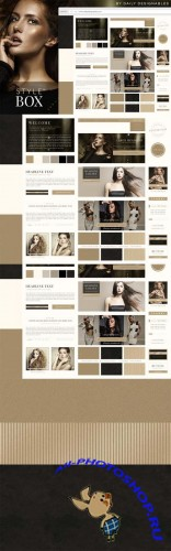 StyleBox Blog Graphics Website Kit 4
