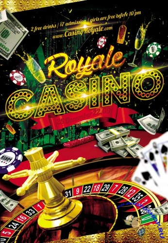 Casino Royale Flyer PSD Template