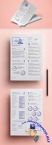 Simple Resume Template vol6 - PSD Template