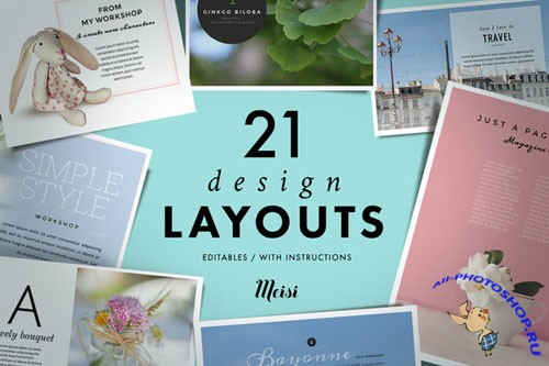 21 Design Layouts - Creativemarket 129071