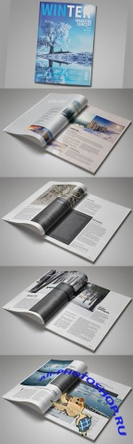 InDesign Magazine Template - Creativemarket 117194