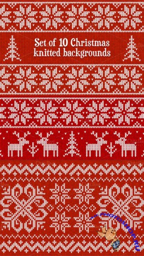 10 knitted vector seamless patterns - Creativemarket 15468
