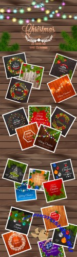 Set of 25 Christmas cards - Creativemarket 125483