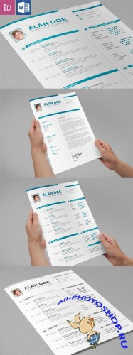 Professional Resume & Cover Letter - CreativeMarket  41785