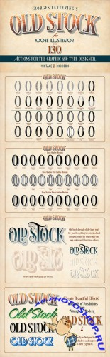 Old Stock-Illustrator Actions - CreativeMarket  56658