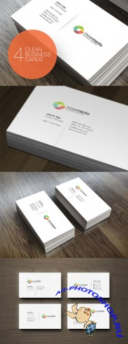 4 Clean Business Cards - Creativemarket 93074