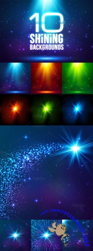 10 magic light backgrounds (eps+jpg) - CM 107748