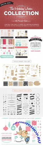 The Holiday Vector Collection - Creativemarket 135814