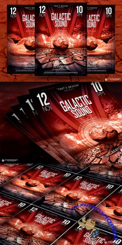 Galactic Sound Flyer Template V3 - Creativemarket 89907