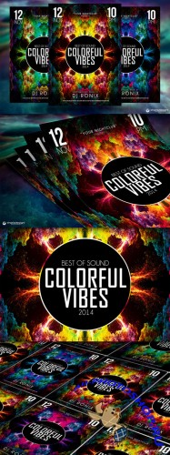 Colorful Vibes Flyer Template - Creativemarket 89851