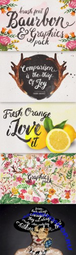 Baurbon and Graphics pack - Creativemarket 129136