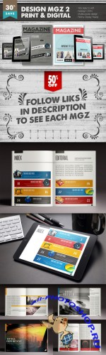 Design Magazine 2 Bundle - Creativemarket 156441