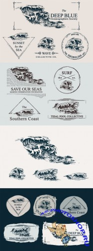 Wave Drawings & Logo Templates - CM 86046