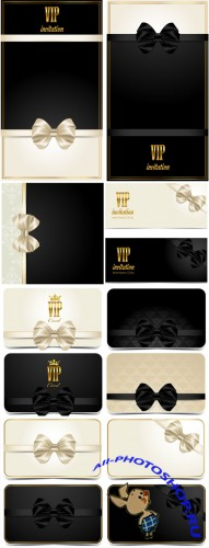 VIP card with golden elements, vector backgrounds