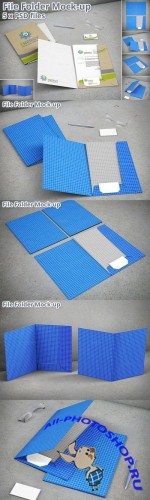 Stationery File Folder Mock-up - CM 79143