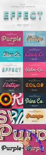 Vintage Text Effects Vol.4 - CM 73564