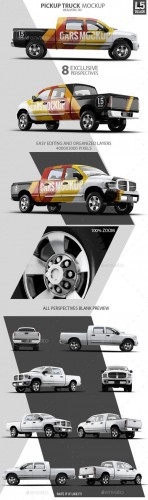 Pickup Truck Mock-Up - Graphicriver 10270078