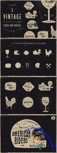 Vintage Handdrawn Logos Vol 1 (Sale) - CM 34713