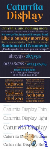 Caturrita Display Typeface - 5 Fonts