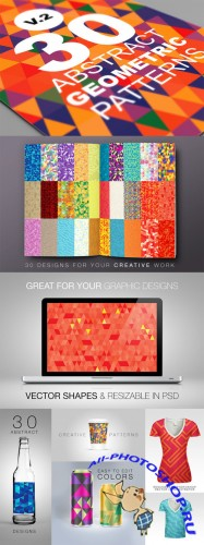 Abstract Geometric Backgrounds v.2 - Creativemarket 18448