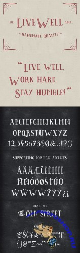 Livewell Typeface - CM 157537