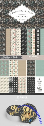 (Seamless) Addelinna Wishes Patterns - Creativemarket 143835