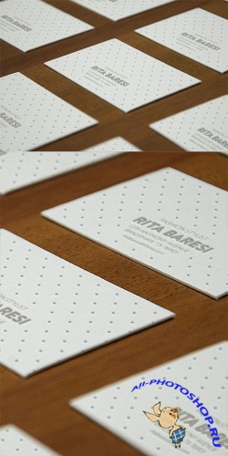 Letterpress Business Card PSD Mock-Up Template