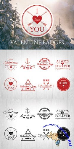 Valentine Badges - Creativemarket 169790