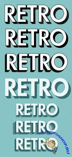 10 Retro Text Effect Actions - CM 49660