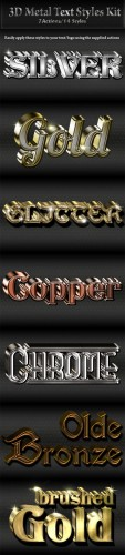 3D Metal Text/Logo Styles Kit - Graphicriver 9410770