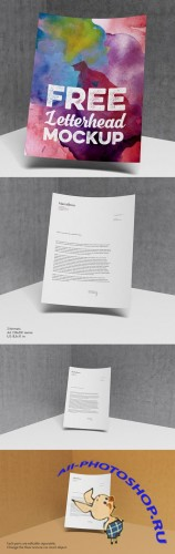 Letterhead Presentation Mock-up PSD Template