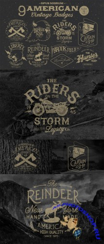American Vintage Badges Part.3 - Creativemarket 47778