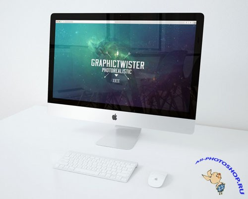iMac Presentation Mock-Up PSD Template