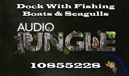 Audiojungle Dock With Fishing Boats & Seagulls 10855228
