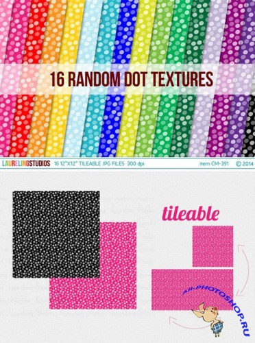 Tileable pattern: dot digital paper - Creativemarket 77911
