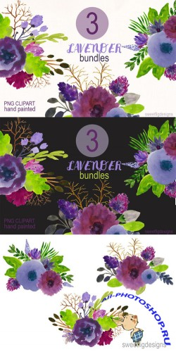 Watercolor Flower Bundles - Creativemarket 201234