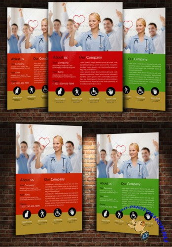 Medical Flyer Template - Creativemarket 225036