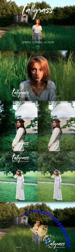 Tallgrass Photoshop Action - Creativemarket 238324
