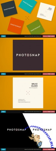 PhotoSnap Business Card - Square - Creativemarket 218975
