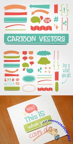 Cartoon Vectors - Creativemarket 6507