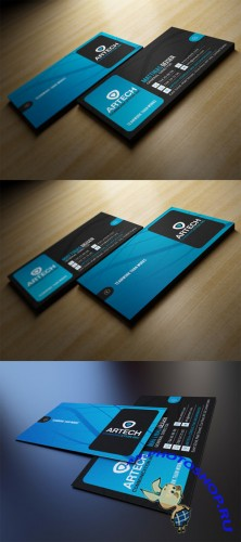Creativemarket Black And Blue Business Card 104819