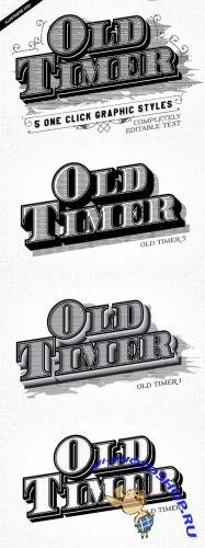Creativemarket - Old Timer Vintage Graphic Styles 106925