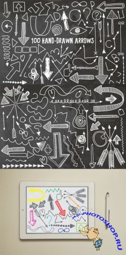 100 Hand drawn arrows - Creativemarket 79197