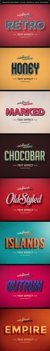 Retro Vintage Text Effects Vol. 2 - Graphicriver 9302226