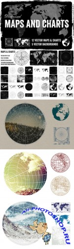 Distressed Vector Maps & Charts - Creativemarket 27353