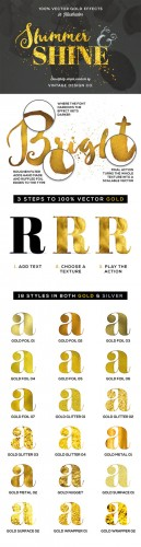 Shimmer & Shine: 100% Vector Gold - Creativemarket 236592