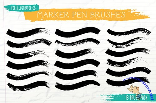 Creativemarket - Marker Pen Brushes 16987