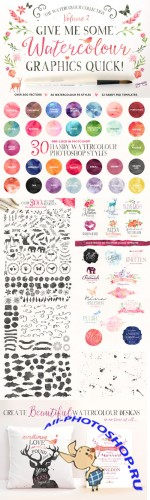 Creativemarket - Watercolour Graphics Quick 84805